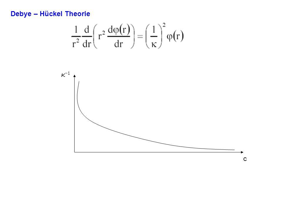 Debye – Hückel Theorie c