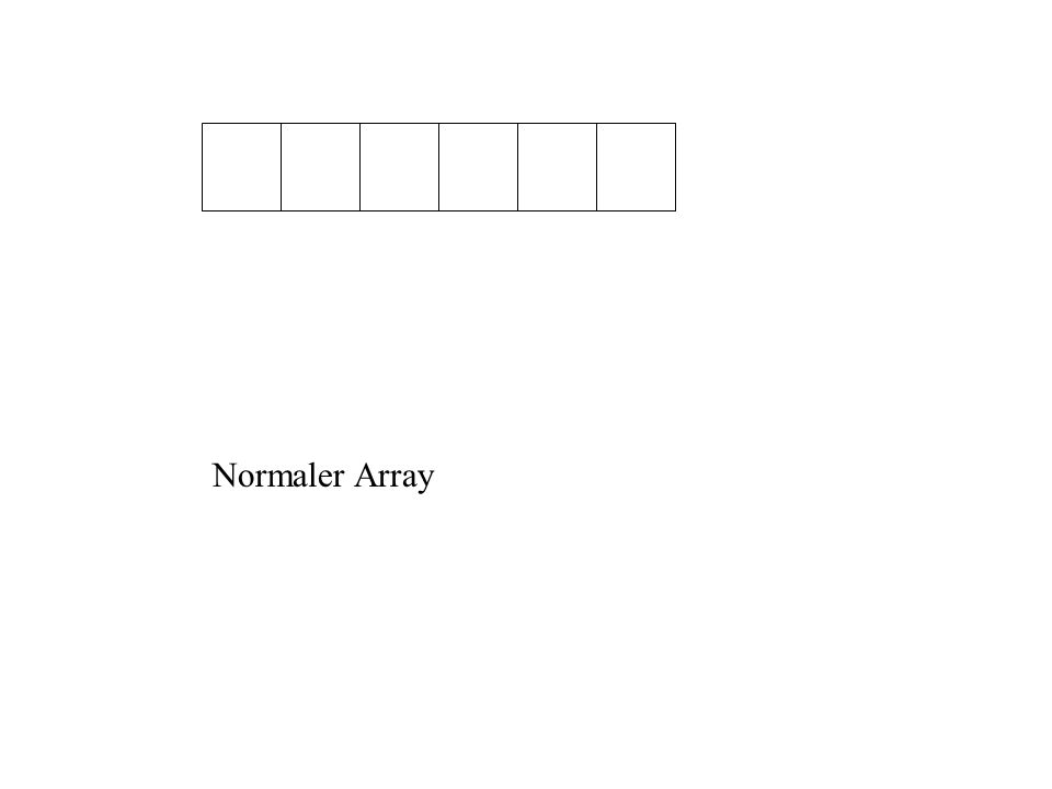 Normaler Array