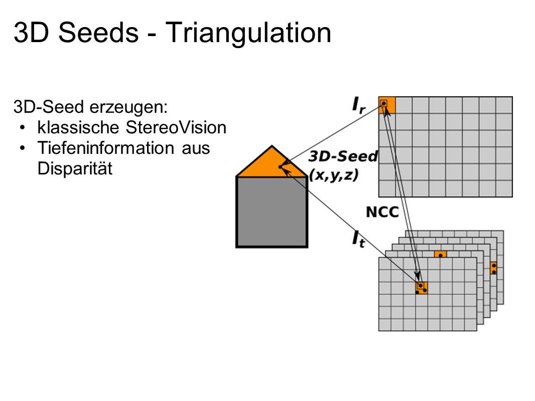 3D Seeds - Triangulation 3D-Seed erzeugen: klassische StereoVision Tiefeninformation aus Disparität