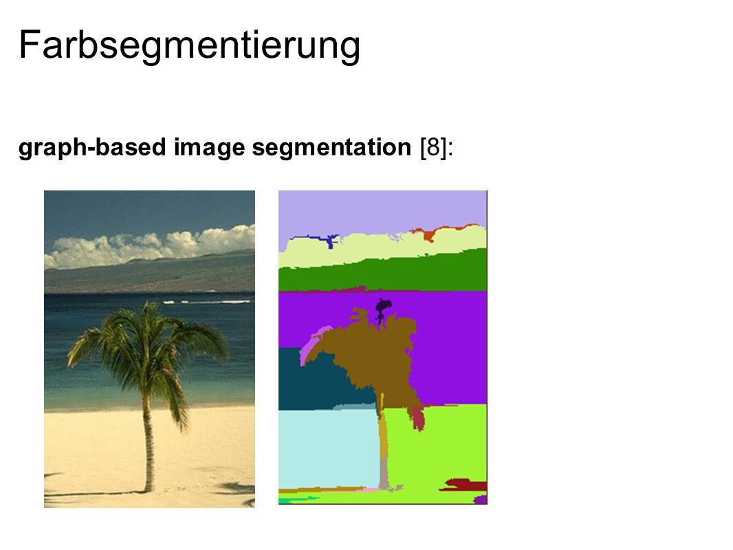 Farbsegmentierung - Bild als Graph Kantengewichte entsprechen Intensitätsdifferenzen