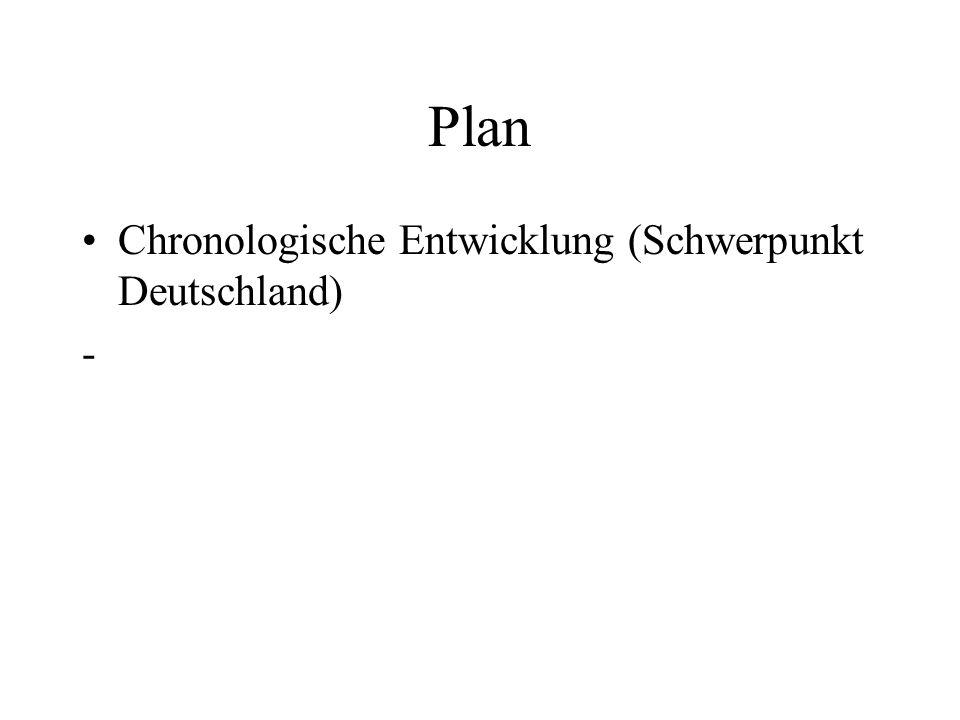 Plan Chronologische Entwicklung (Schwerpunkt Deutschland) -