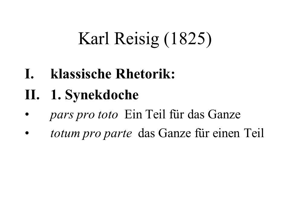 Karl Reisig (1825) I.klassische Rhetorik: II.1.