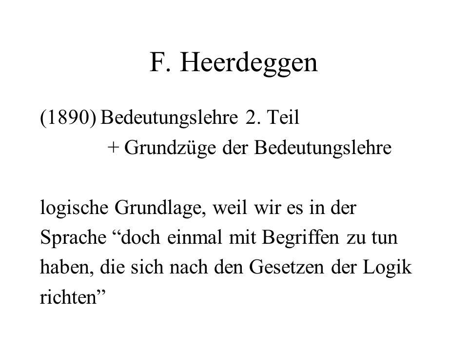 F. Heerdeggen (1890) Bedeutungslehre 2.