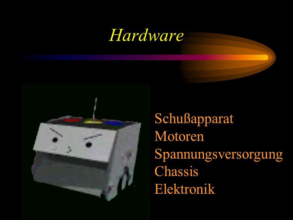 Hardware Funk Schußapparat Motoren Spannungsversorgung Chassis Elektronik