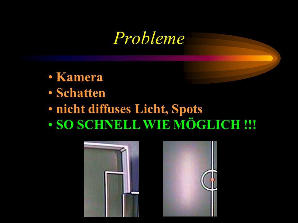 Probleme Kamera Schatten nicht diffuses Licht, Spots SO SCHNELL WIE MÖGLICH !!!