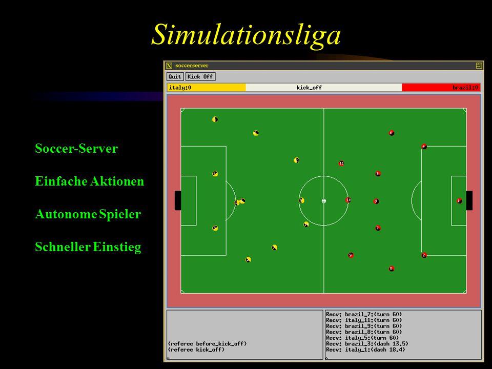 Simulationsliga Soccer-Server Einfache Aktionen Autonome Spieler Schneller Einstieg