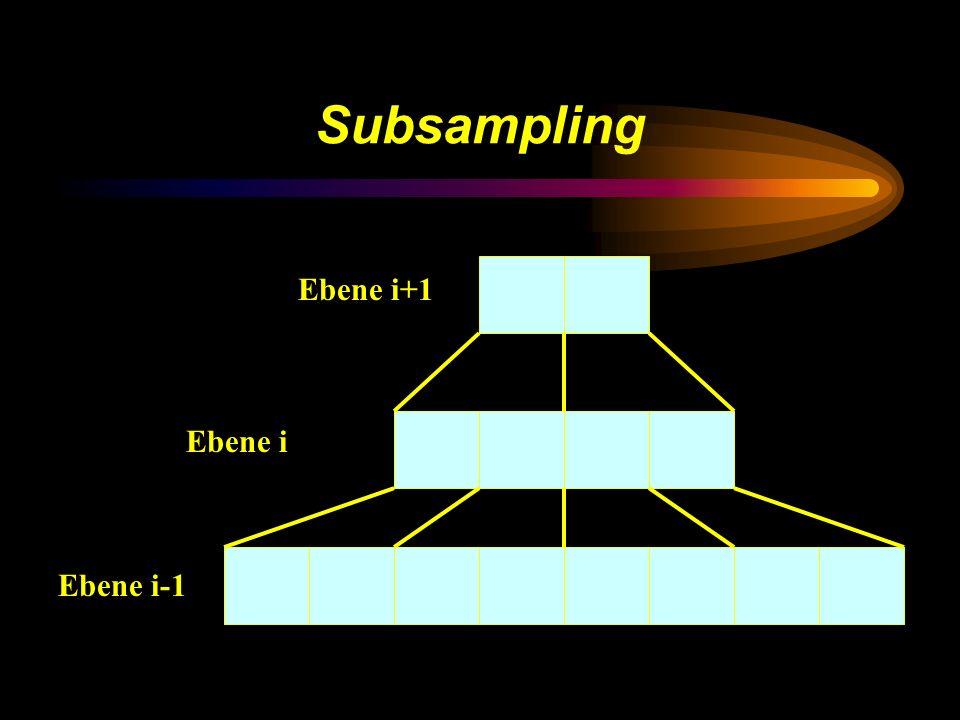 Subsampling Ebene i-1 Ebene i+1 Ebene i