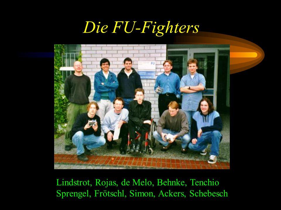 Die FU-Fighters Lindstrot, Rojas, de Melo, Behnke, Tenchio Sprengel, Frötschl, Simon, Ackers, Schebesch