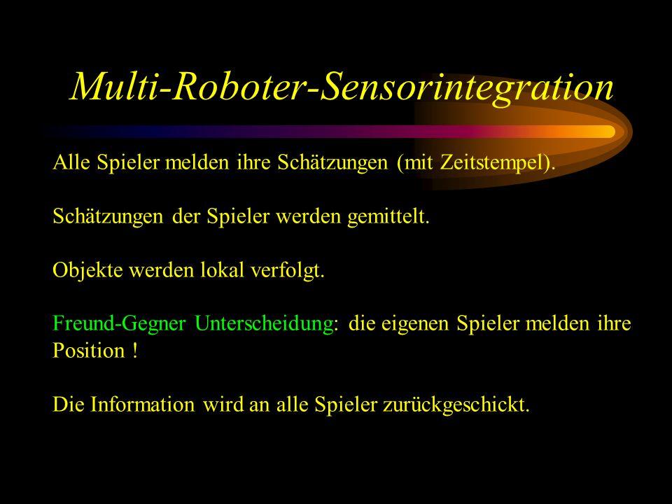 Multi-Roboter-Sensorintegration Alle Spieler melden ihre Schätzungen (mit Zeitstempel).