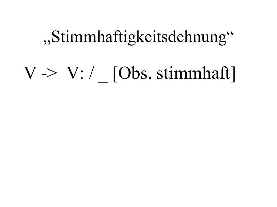Stimmhaftigkeitsdehnung V -> V: / _ [Obs. stimmhaft]