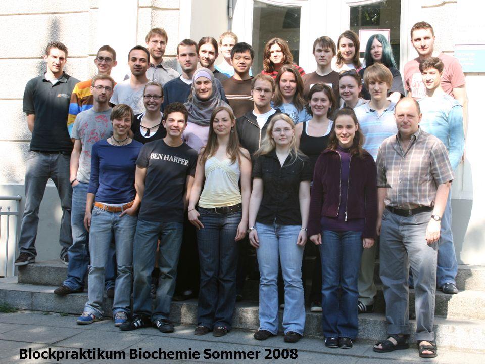 Blockpraktikum Biochemie Sommer 2008 Gr.1 Steve Martin, Sebastian Jäschke und Gr.14 Dang Tuan Phuong