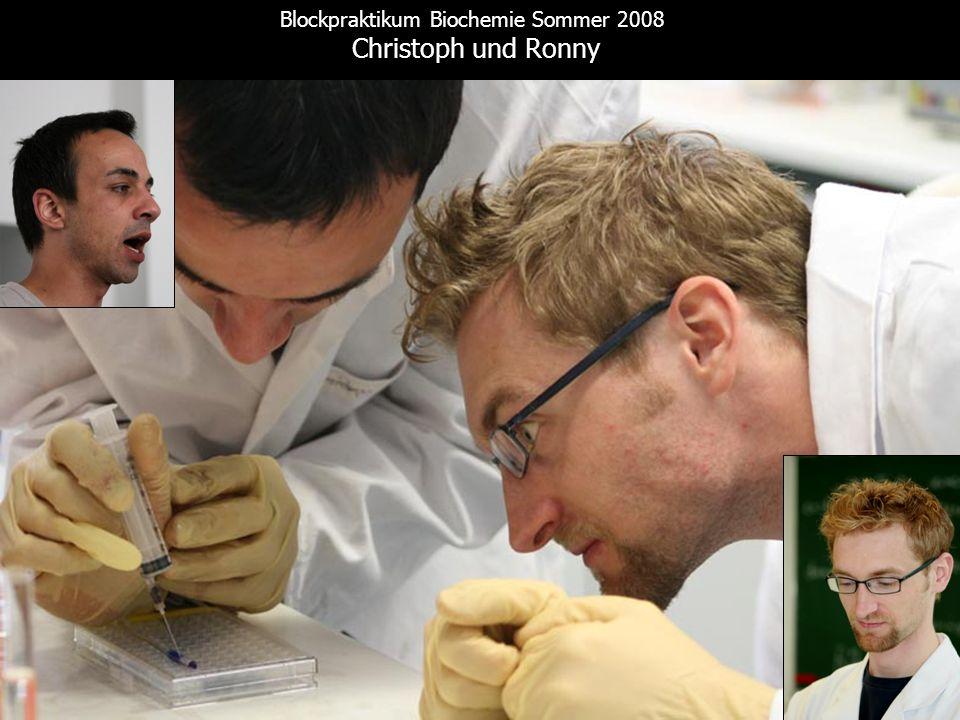 Blockpraktikum Biochemie Sommer 2008 Christoph und Ronny