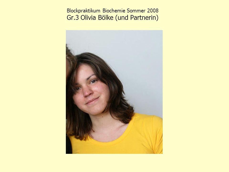 Blockpraktikum Biochemie Sommer 2008 Die Betreuer (1): Chris Weise, Julia Hütter und Boas Felmy