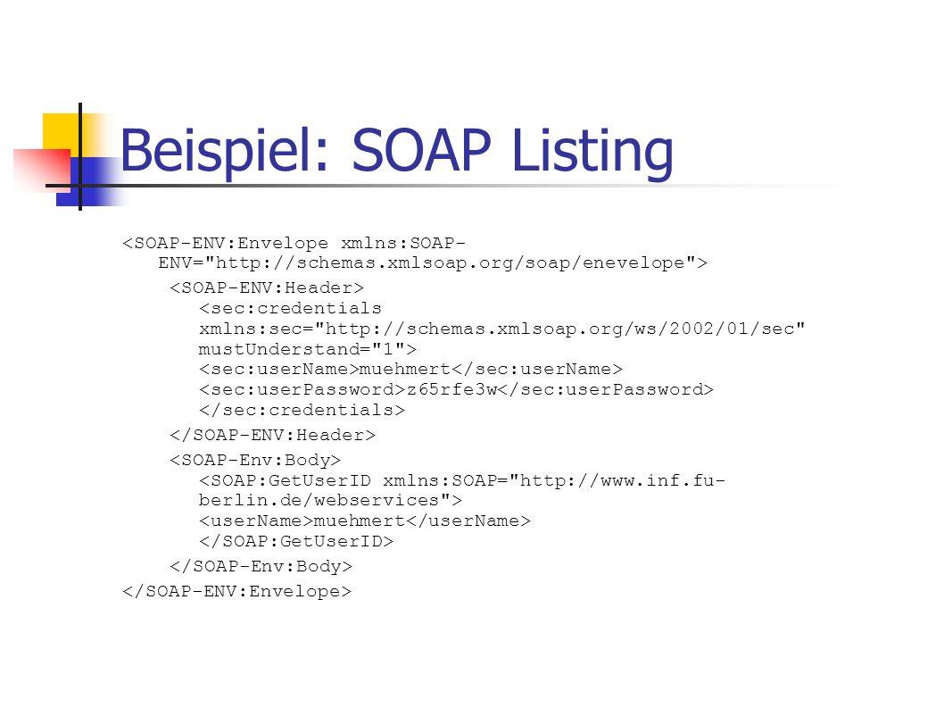 Beispiel: SOAP Listing muehmert z65rfe3w muehmert