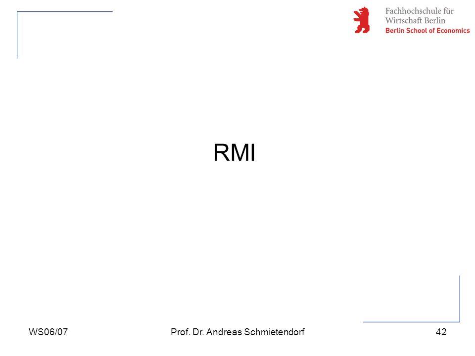 WS06/07Prof. Dr. Andreas Schmietendorf42 RMI