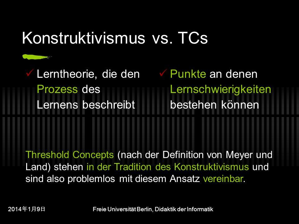201419 201419 201419 Freie Universität Berlin, Didaktik der Informatik Konstruktivismus vs.