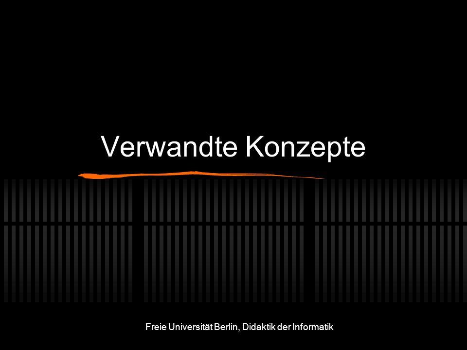 Freie Universität Berlin, Didaktik der Informatik Verwandte Konzepte