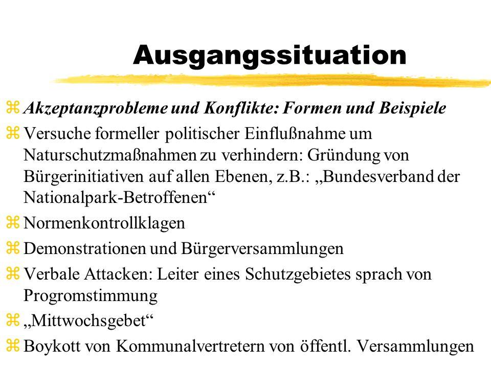 Konflikte in den Medien zZoff im Park - Bürgerinitiativen rebellieren gegen Nationalparks (DIE ZEIT 19.12.1997, S.