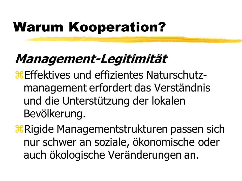 Warum Kooperation.
