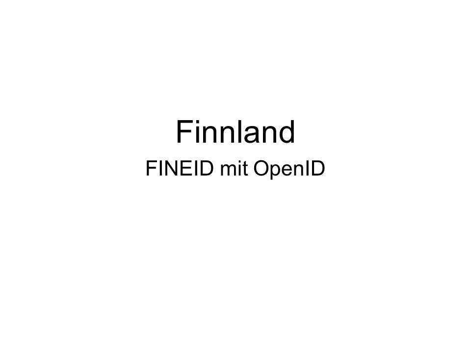 Finnland FINEID mit OpenID