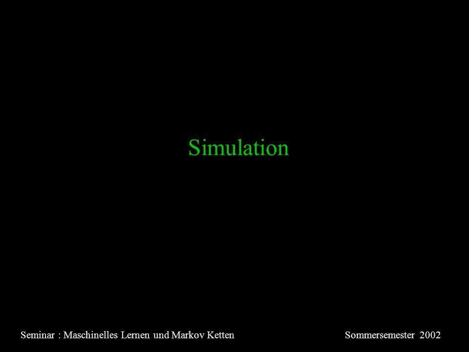 Simulation Seminar : Maschinelles Lernen und Markov KettenSommersemester 2002