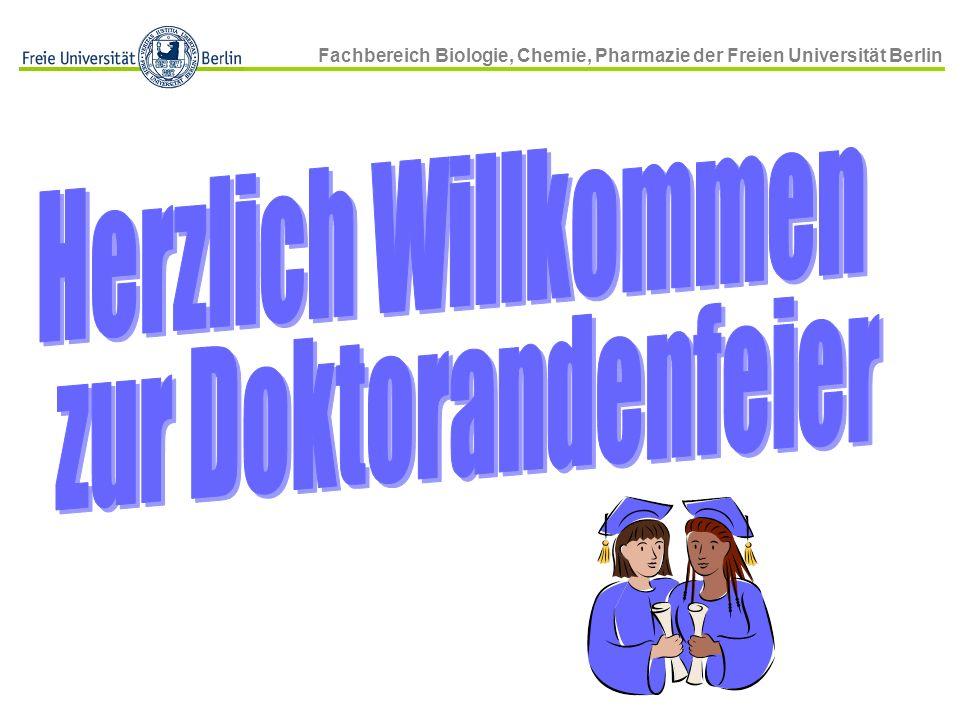 Fachbereich Biologie, Chemie, Pharmazie der Freien Universität Berlin WT D vs.