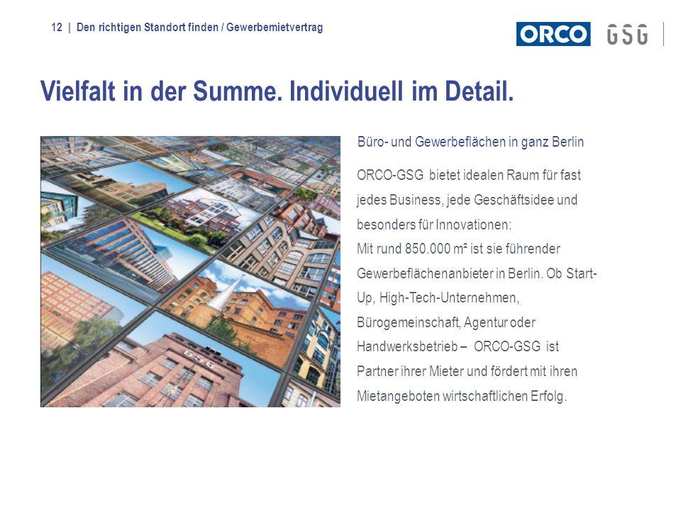 | Den richtigen Standort finden / Gewerbemietvertrag12 ORCO-GSG bietet idealen Raum für fast jedes Business, jede Geschäftsidee und besonders für Inno
