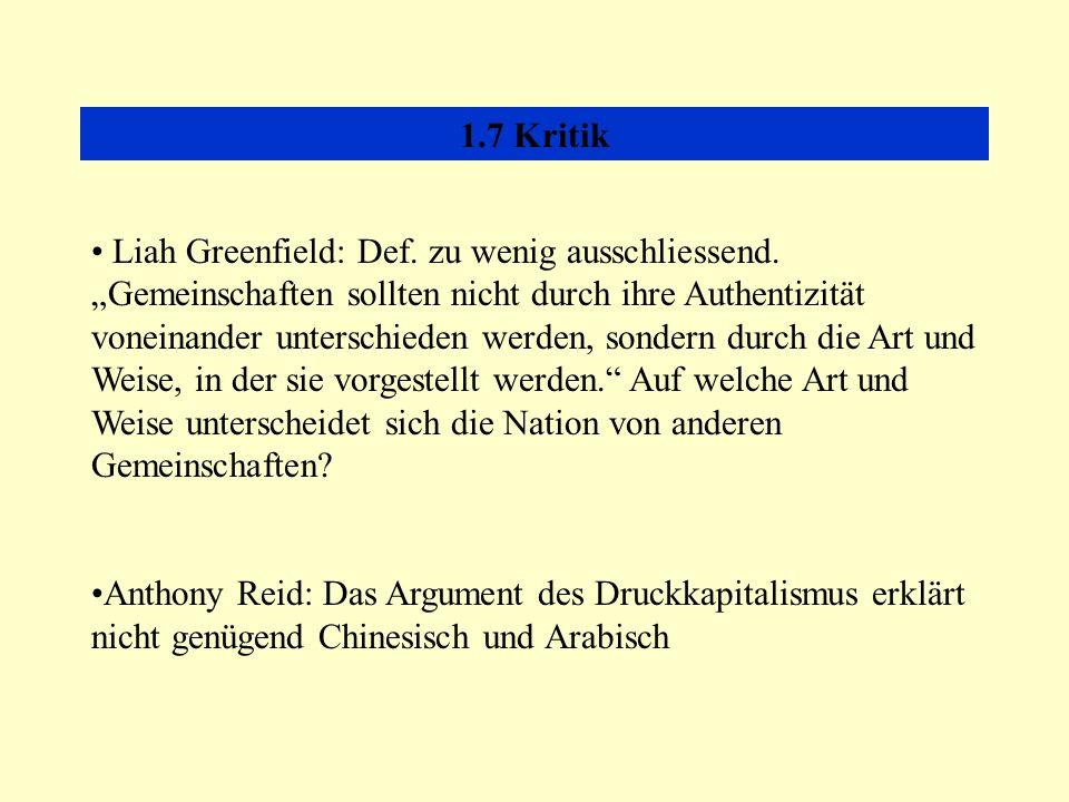 1.7 Kritik Liah Greenfield: Def.zu wenig ausschliessend.