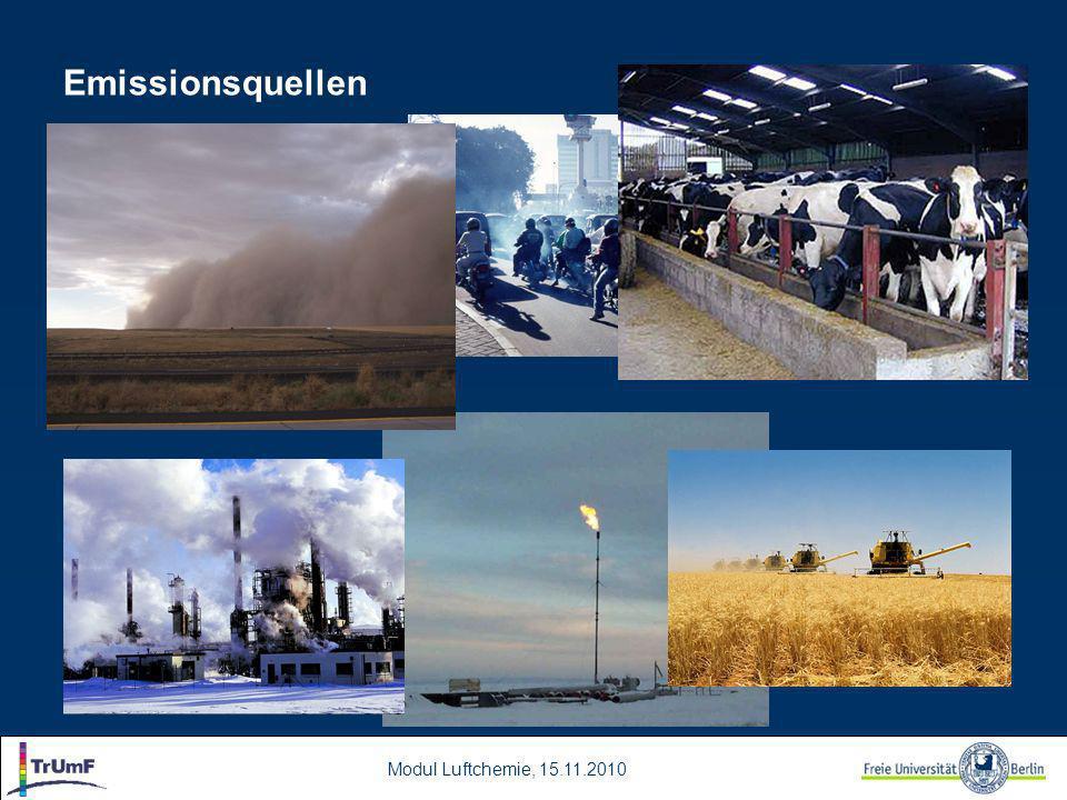 Modul Luftchemie, 15.11.2010 Emissionsquellen