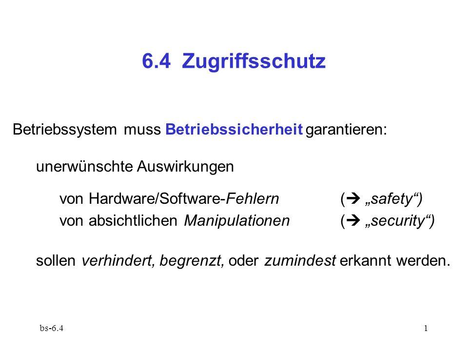 bs-6.422 Zugriffsrecht im Schutzstatus bezieht sich i.a.