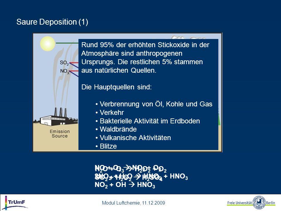 Modul Luftchemie, 11.12.2009 Modellierung der trockenen Deposition (9) ( dry 2004 ) Vergleich der modellierten Jahressumme der trockenen Deposition von NHx von REM-Calgrid 2005 (links) und LOTOS-EUROS 2004 (rechts)