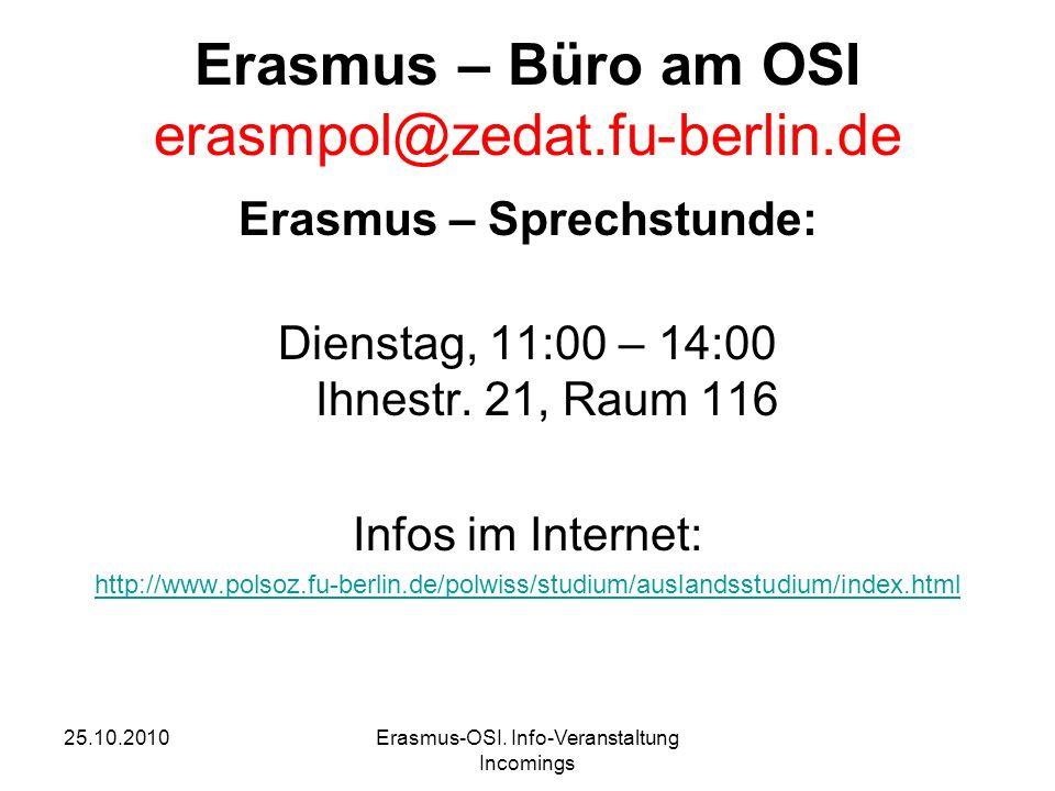 25.10.2010Erasmus-OSI.