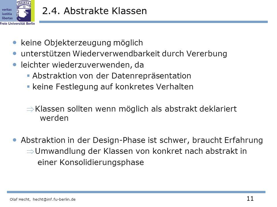 Olaf Hecht, hecht@inf.fu-berlin.de 11 2.4.