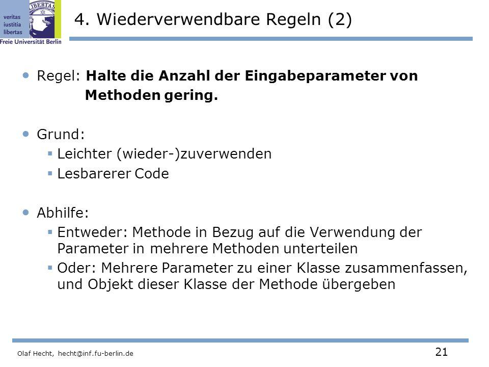 Olaf Hecht, hecht@inf.fu-berlin.de 21 4.