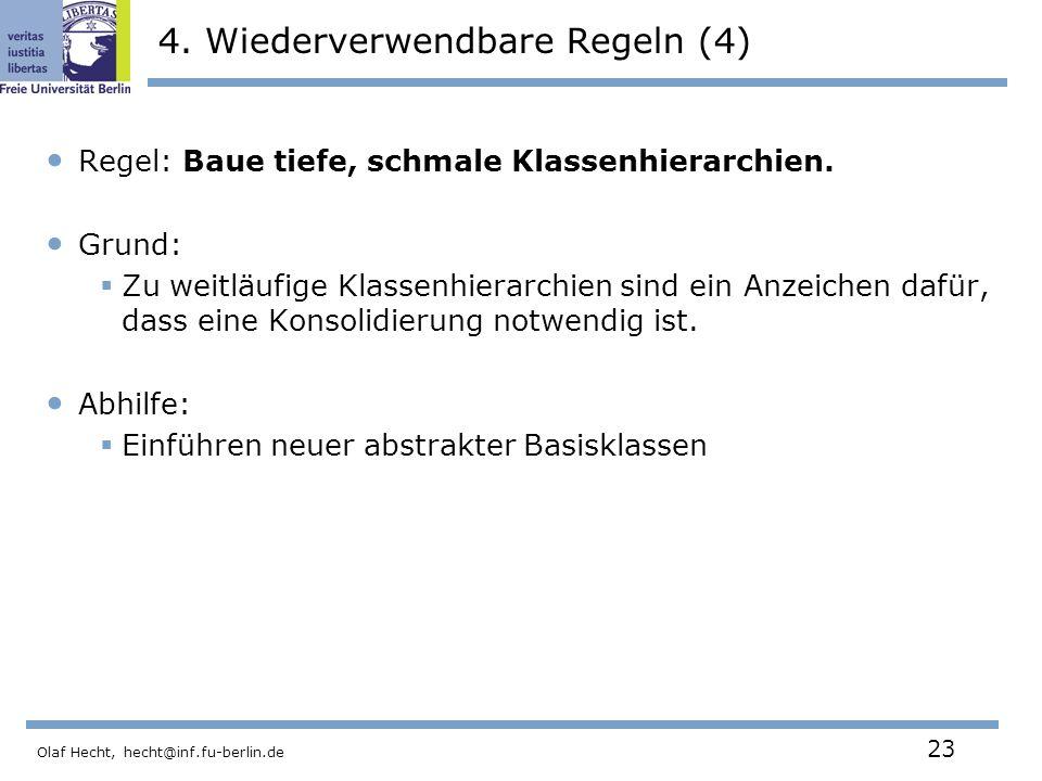 Olaf Hecht, hecht@inf.fu-berlin.de 23 4.