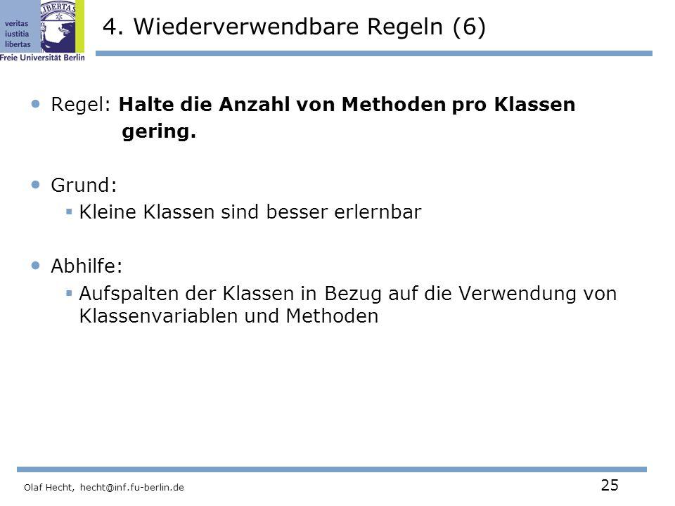 Olaf Hecht, hecht@inf.fu-berlin.de 25 4.