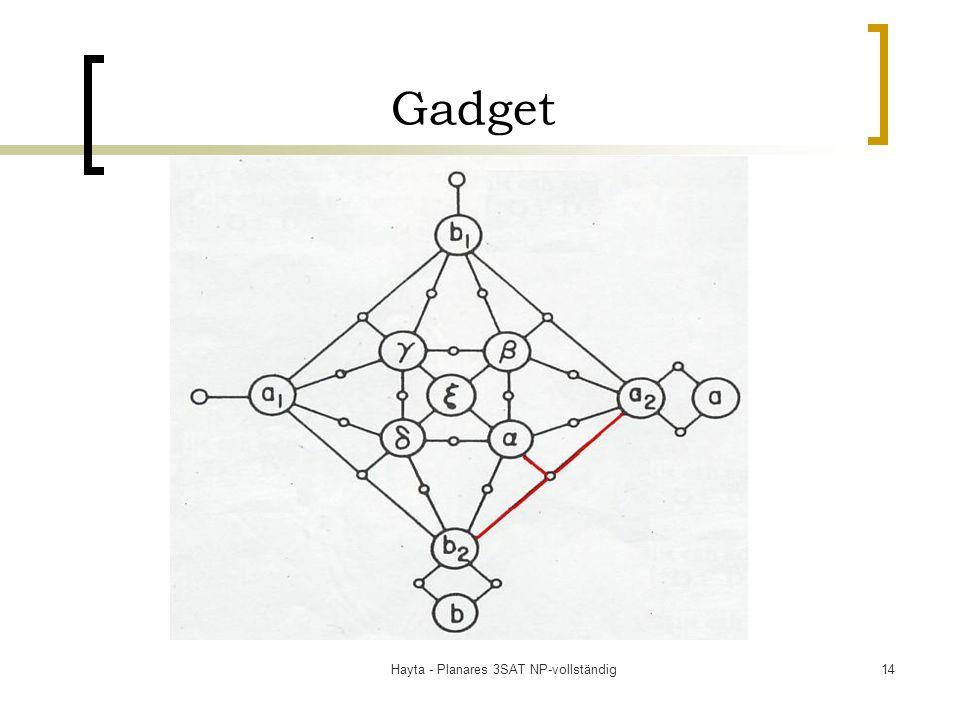 Hayta - Planares 3SAT NP-vollständig14 Gadget