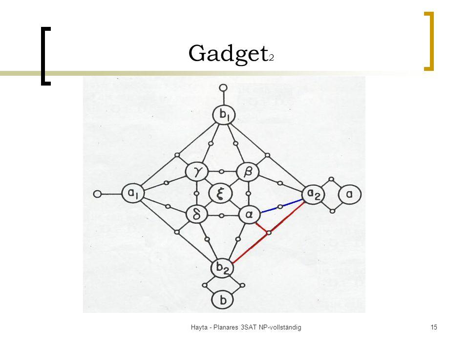 Hayta - Planares 3SAT NP-vollständig15 Gadget 2