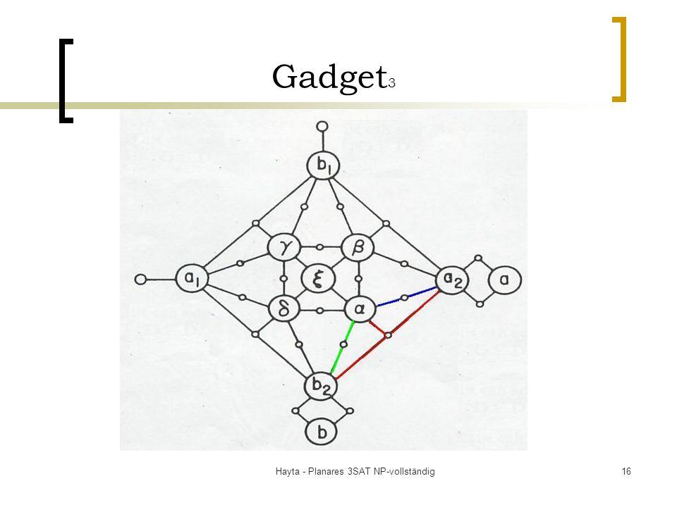 Hayta - Planares 3SAT NP-vollständig16 Gadget 3