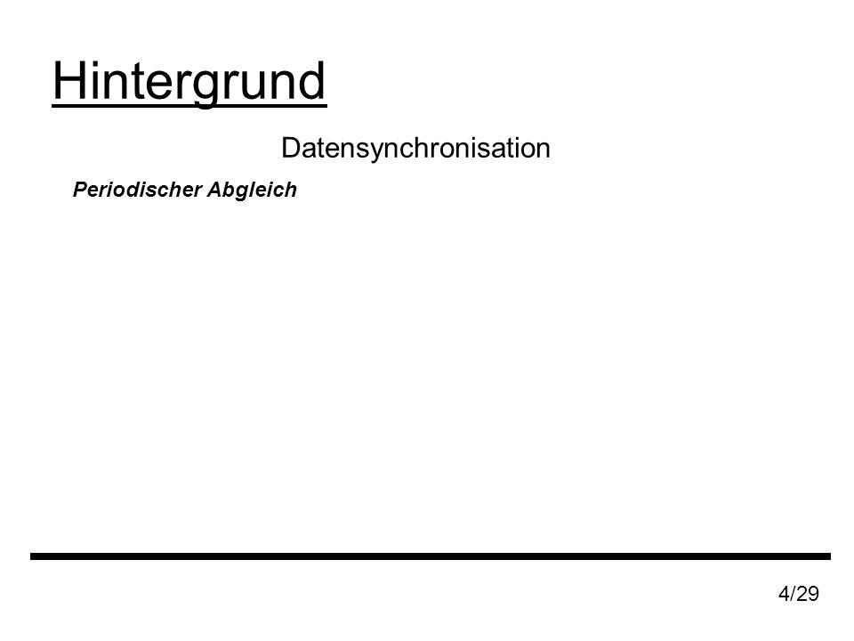 Datensynchronisation Hintergrund 4/29 Periodischer Abgleich