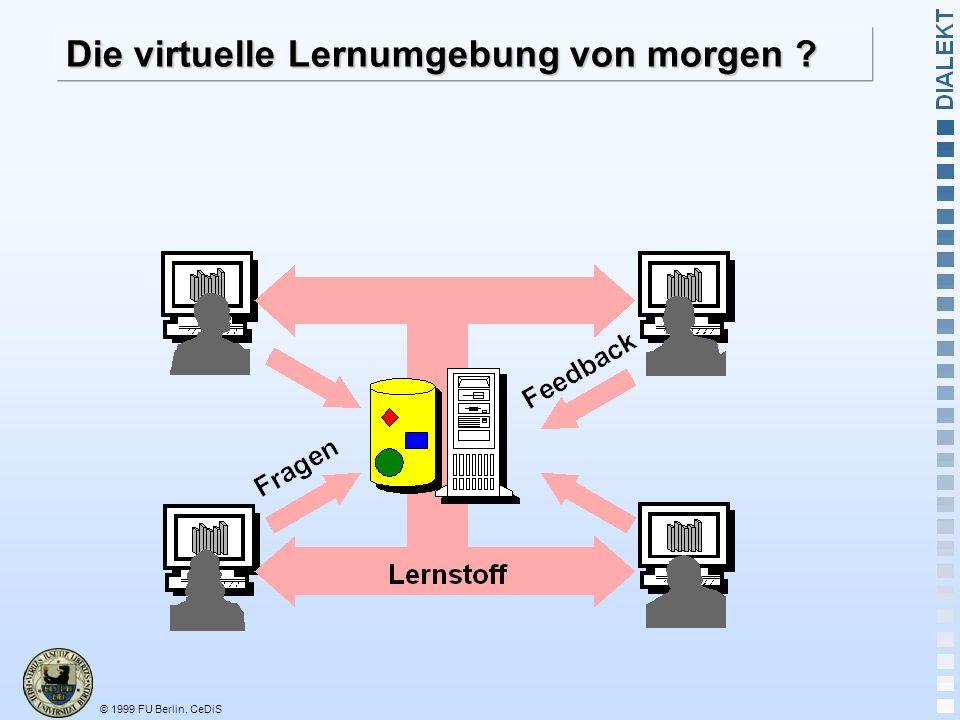 © 1999 FU Berlin, CeDiS Die virtuelle Lernumgebung von morgen ?