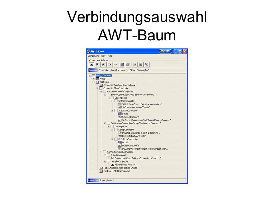 Verbindungsauswahl AWT-Baum