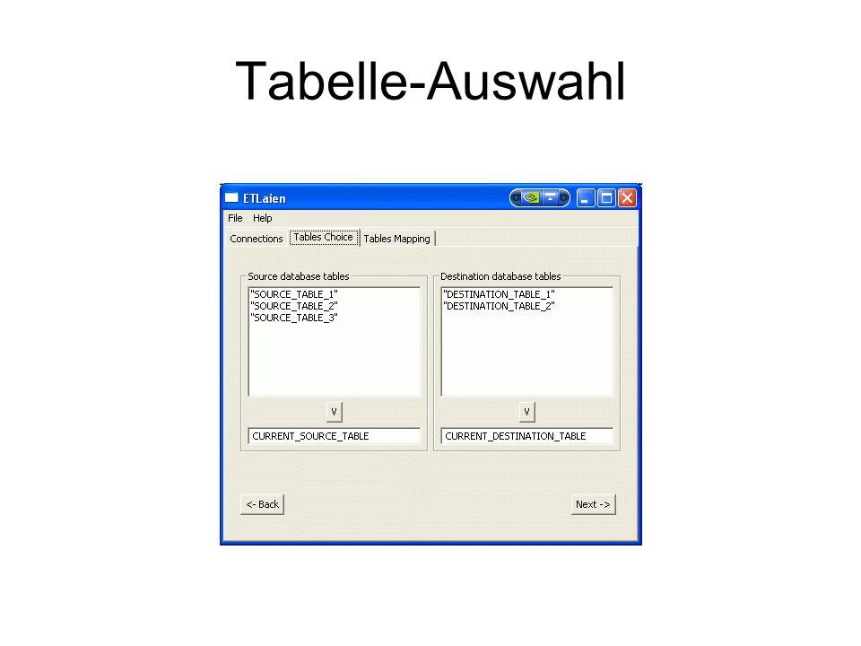 Tabelle-Auswahl