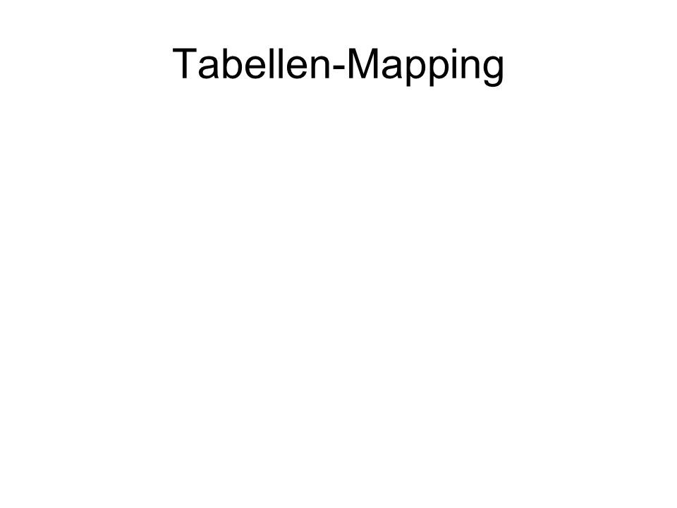 Tabellen-Mapping