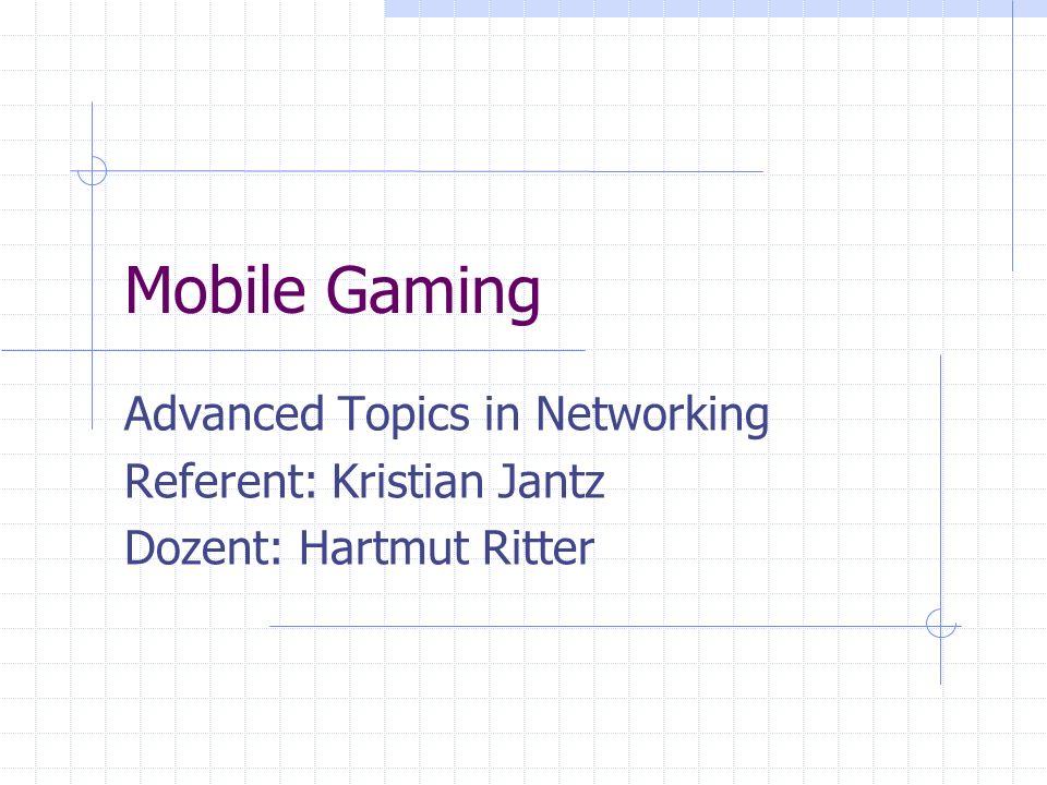 Advanced Topics in Networking, WS03 – Freie Universität Berlin Gliederung 1.