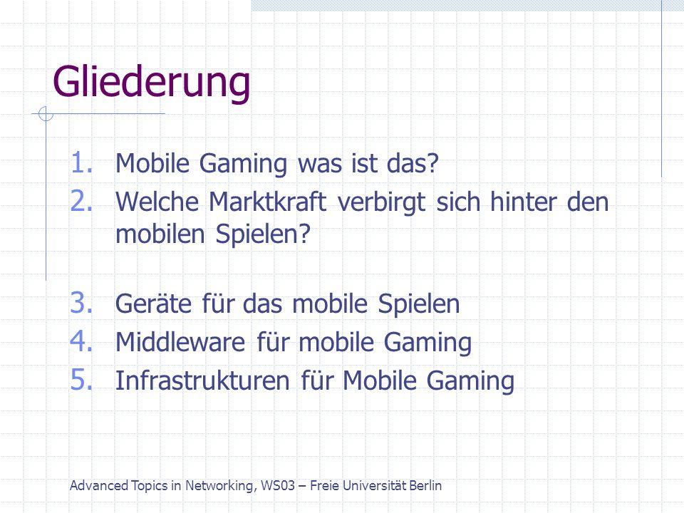 Advanced Topics in Networking, WS03 – Freie Universität Berlin 1.