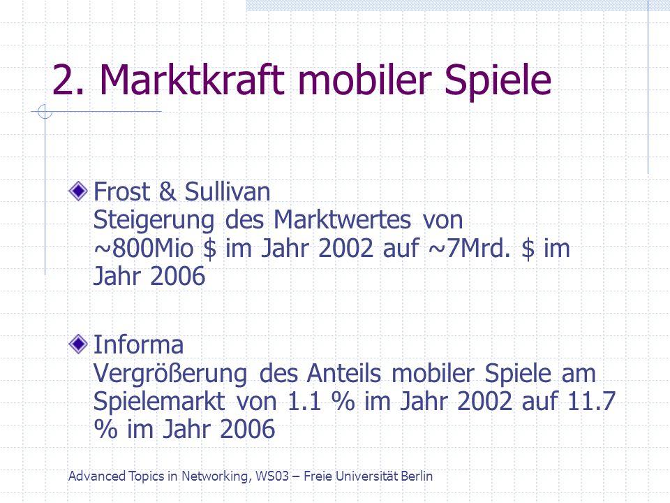 Advanced Topics in Networking, WS03 – Freie Universität Berlin 3.