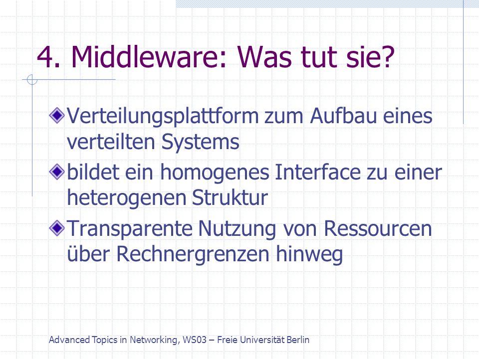 Advanced Topics in Networking, WS03 – Freie Universität Berlin 5.