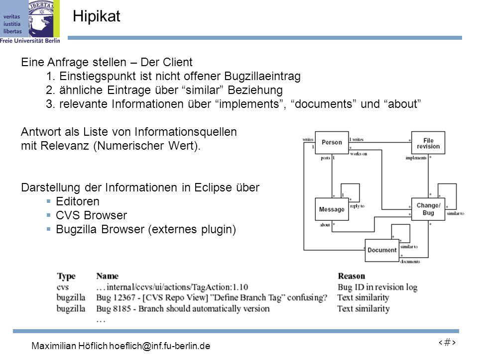 Lutz Prechelt, prechelt@inf.fu-berlin.de 16 Eine Anfrage stellen – Der Client 1.