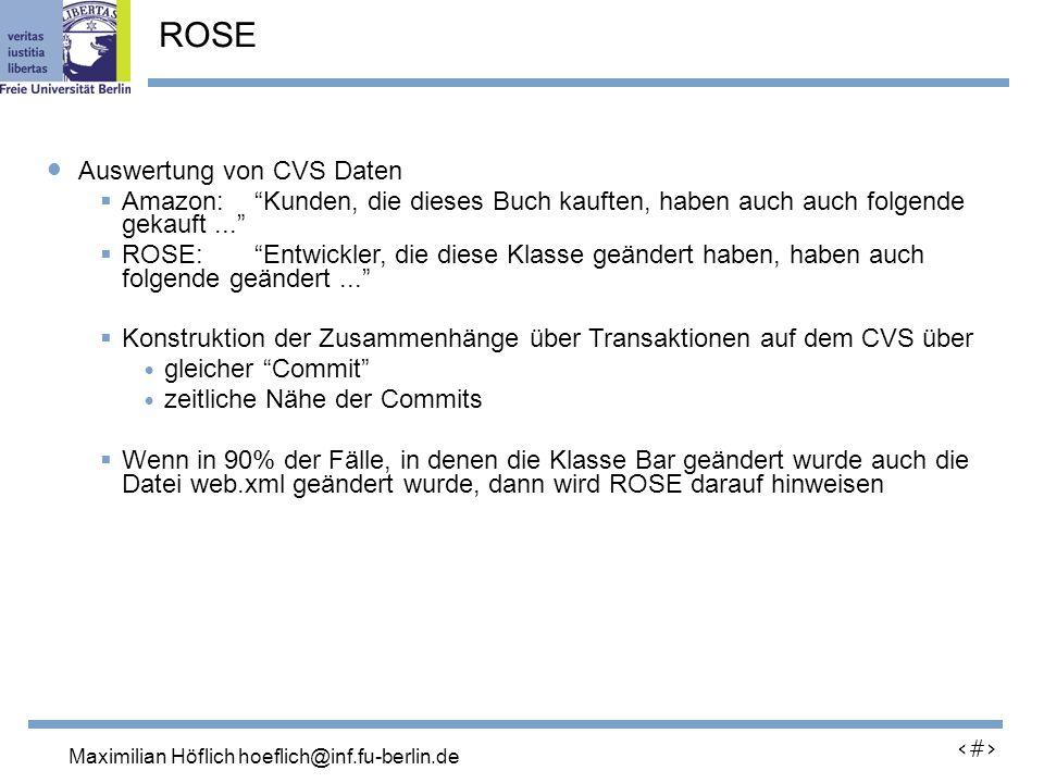 Lutz Prechelt, prechelt@inf.fu-berlin.de 25 Auswertung von CVS Daten Amazon: Kunden, die dieses Buch kauften, haben auch auch folgende gekauft...